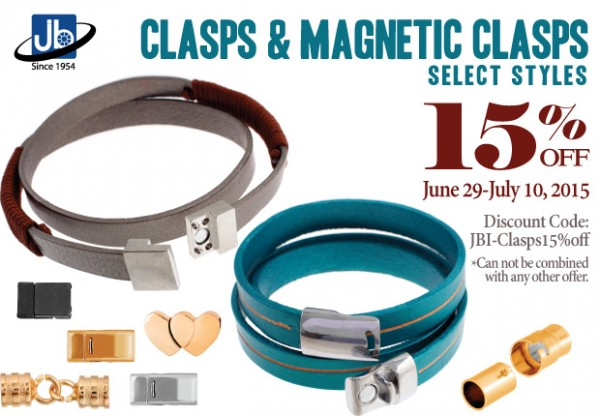 Clasps 15% Off Sale