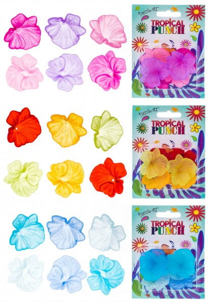 Tropical Punch Lucite Flowers