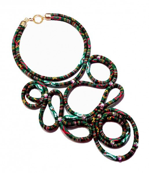 Global Chic Tapestry Cord Necklace by Carmi Cimicata and Nancy Donaldson