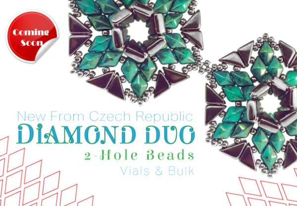 Czech Glass-DIAMOND DUO Beads