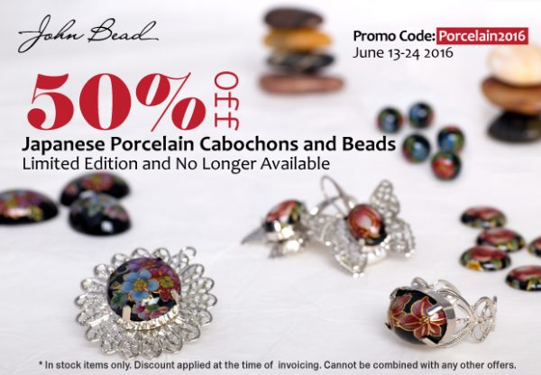 Japanese Porcelain Cabochons and Beads