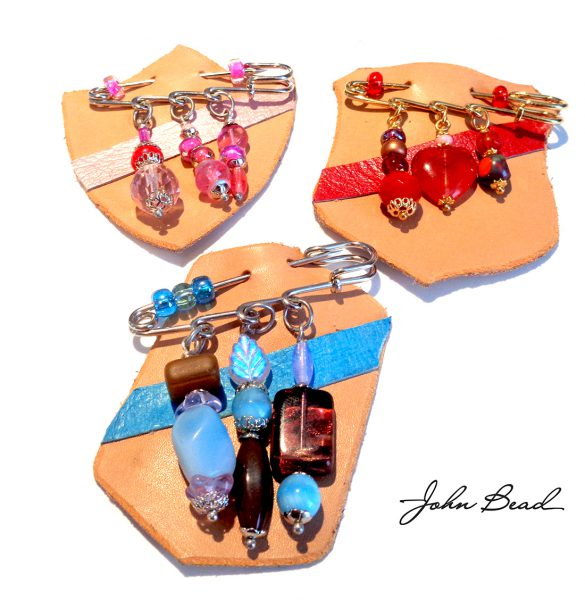 John Bead Beaded and Leather Badges!